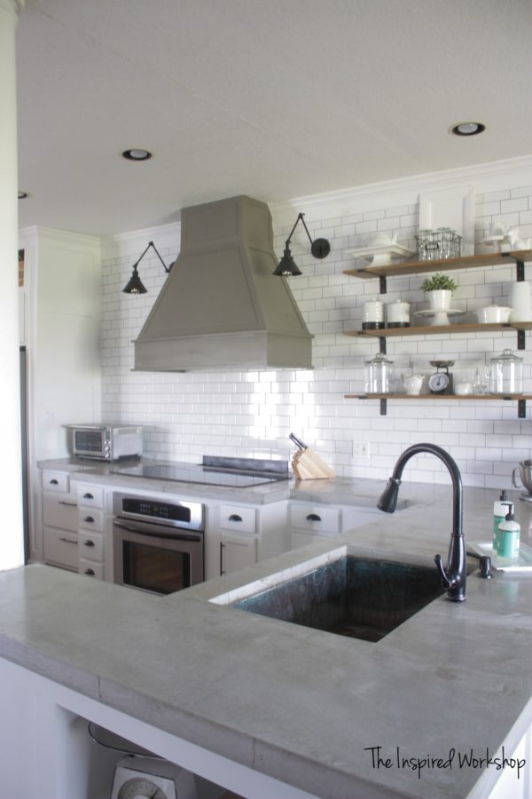 DIY Concrete countertops are a cheap option for updating your kitchen, but do they hold up. Everything you need to know before deciding.