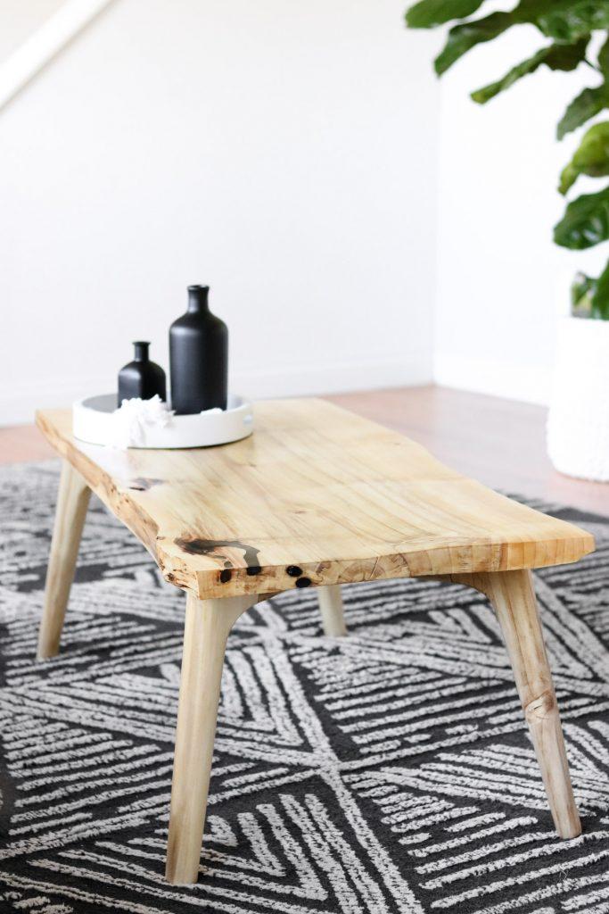 live edge DIY coffee table