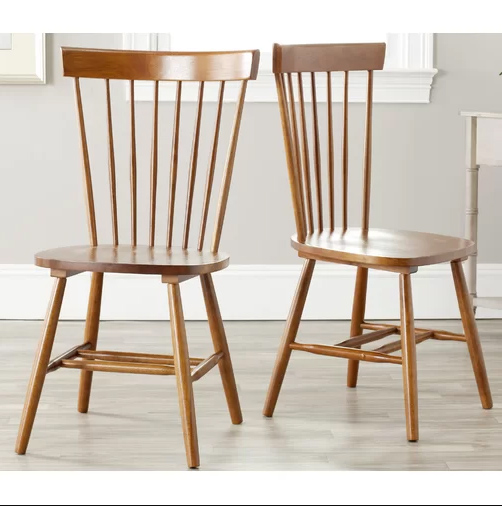 Solid wood farmhouse dining chair, natural