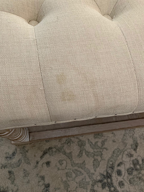 water stains on upholstery