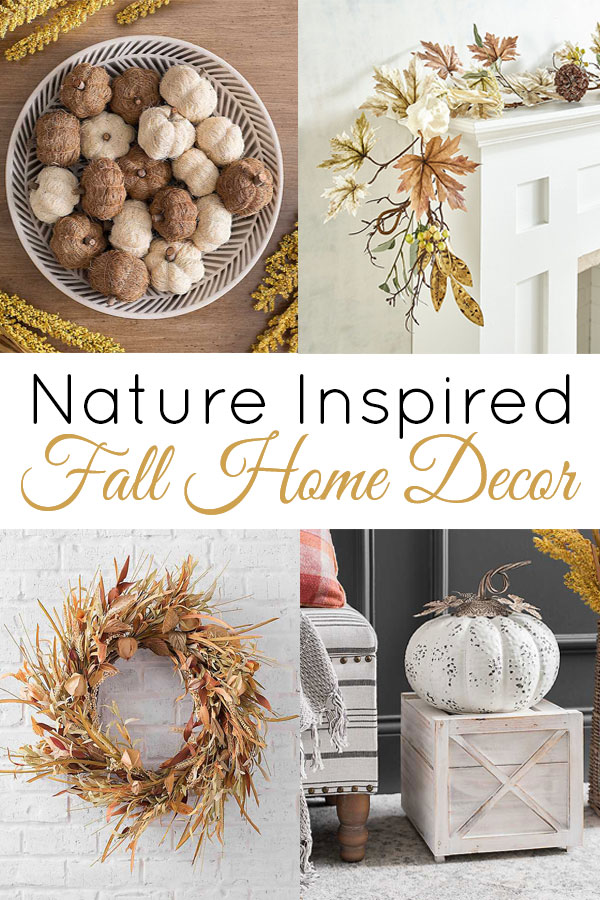 Bring the outdoors in with these beautiful fall home decor accents inspired by nature!