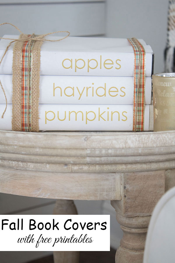 DIY fall book covers with free printables, easy fall decorating ideas!