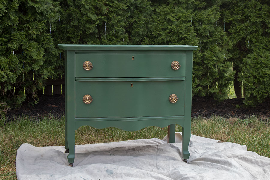 Painted Dresser, green paint from Behr