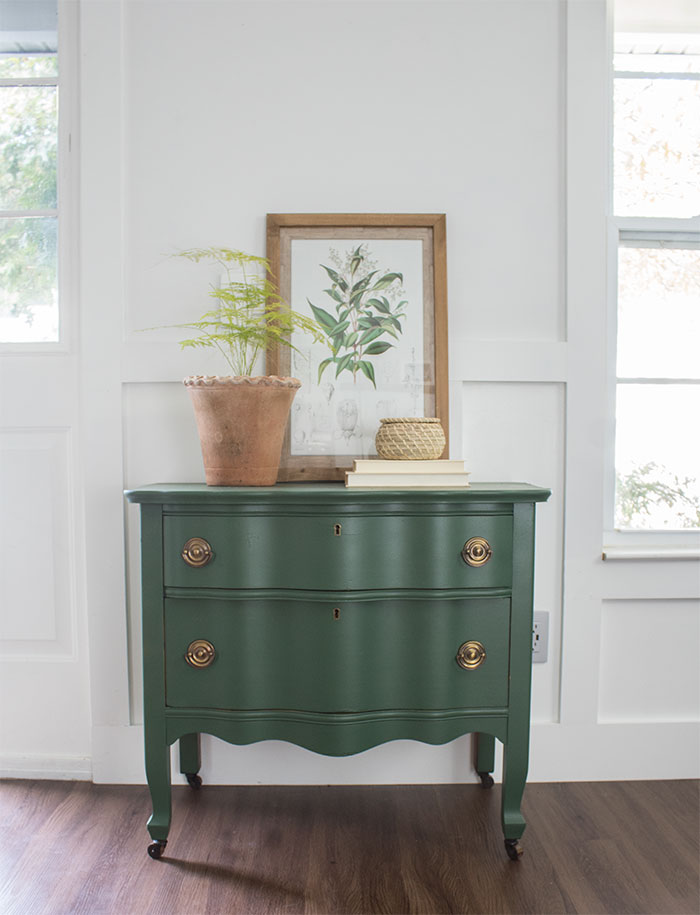 Painted vintage dresser upcycle