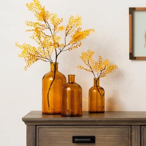 amber bottles vases for fall