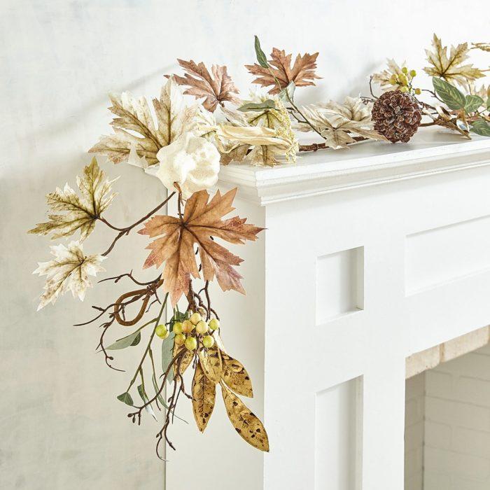 fall leaves and pumpkin garland
