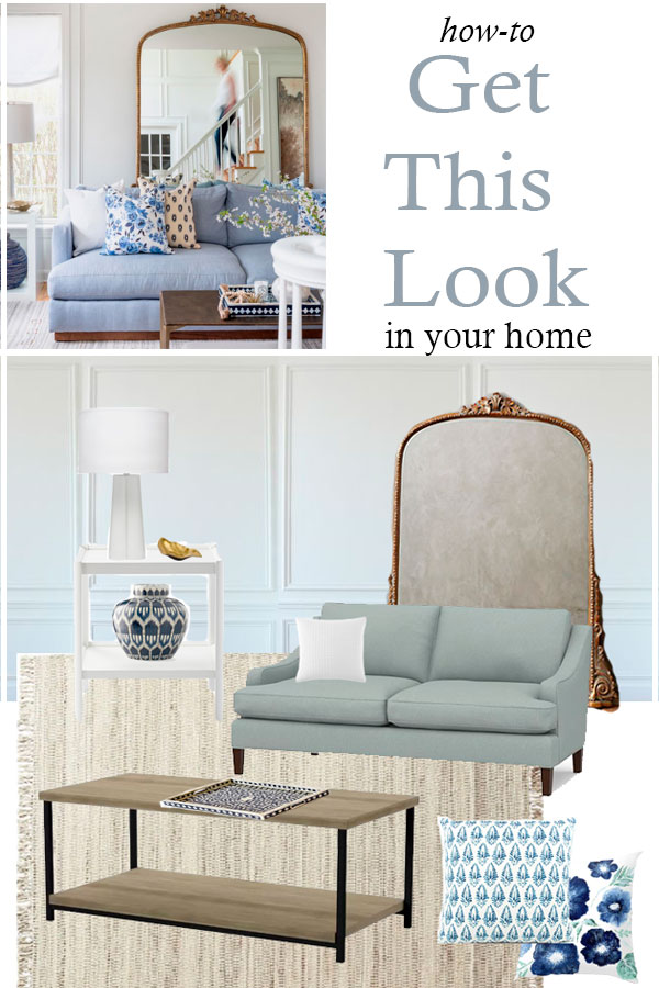 How to recreate the look of this designer living room in your own home!