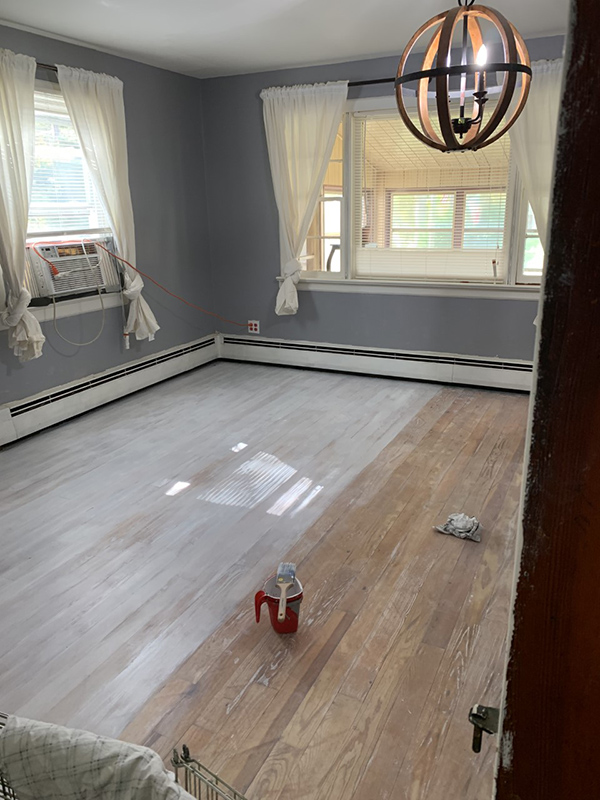 how to whitewash floors with paint