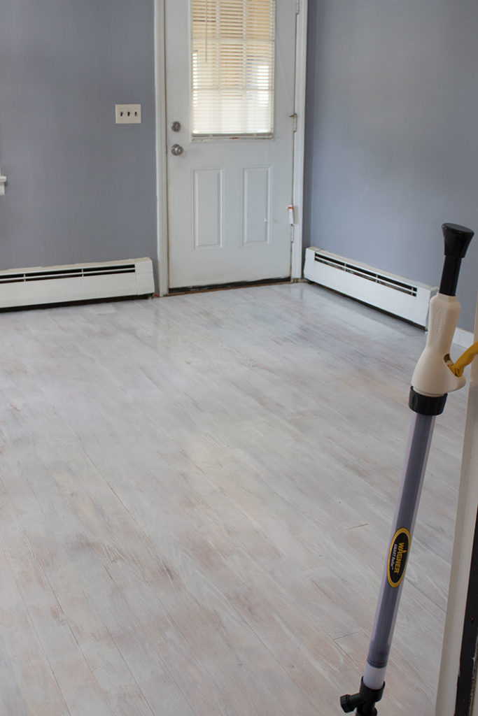 how to whitewash hardwood floors with paint