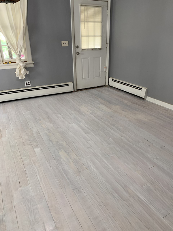 whitewashed pickled wood floors