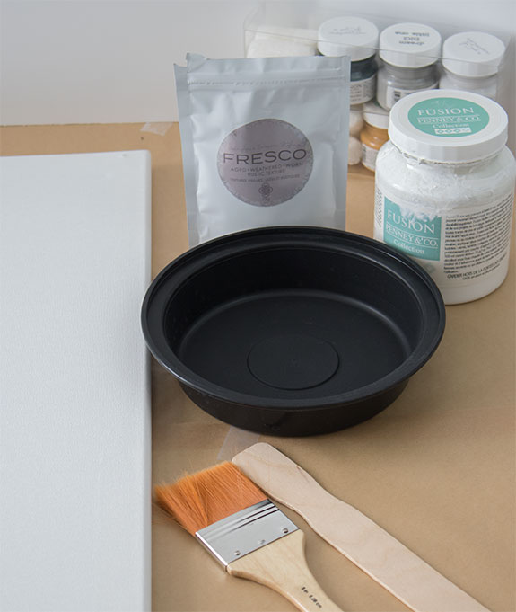supplies needed to make a DIY canvas painting