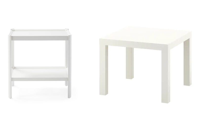 white end tables for the living room, parsons style