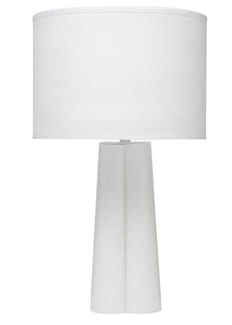 all white tapered table lamp