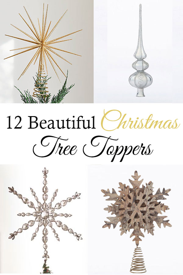 12 Beautiful Christmas tree toppers