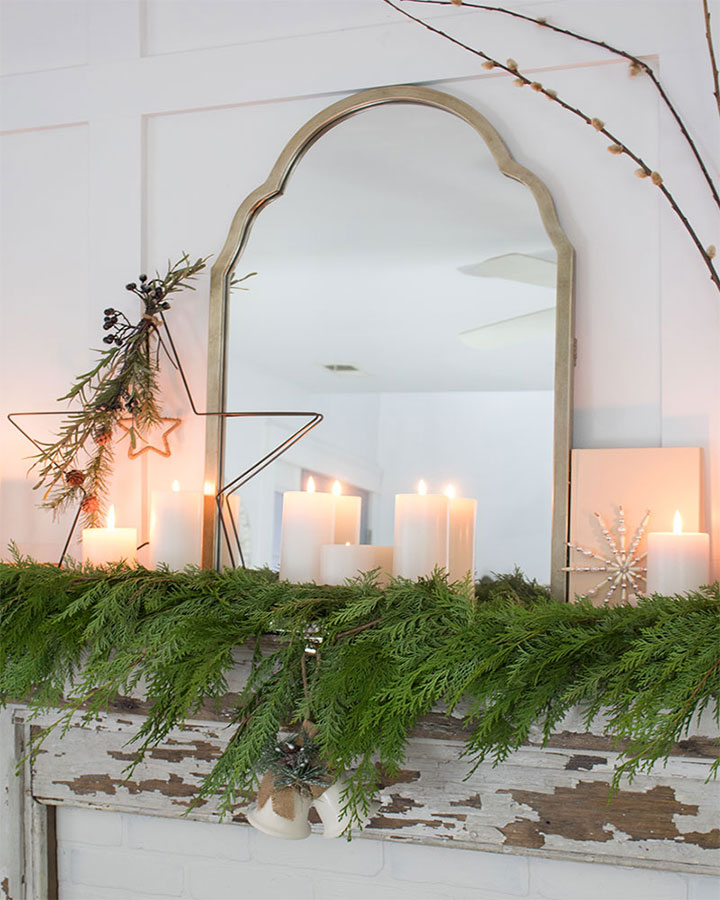 Cedar garland - Christmas decorating