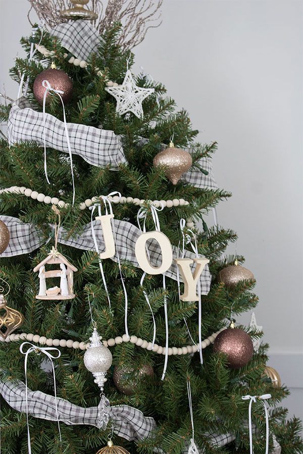 DIY Wooden Letter Christmas Ornaments, JOY