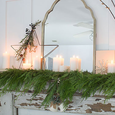 Decorating With Cedar Garland (Giveaway)