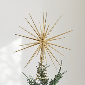 FI-delicate gold star tree toppers