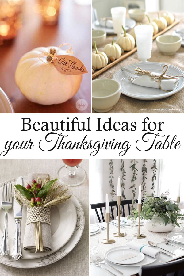 Thanksgiving dinner table settings, ideas and decorations.