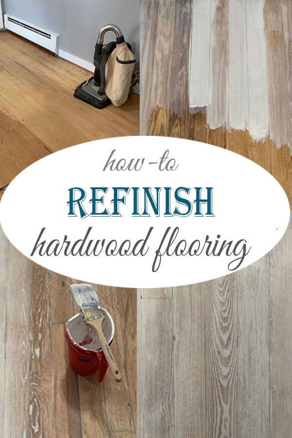 everything you need to know about refinishing hardwood floors, including how to stain them by hand #DIY