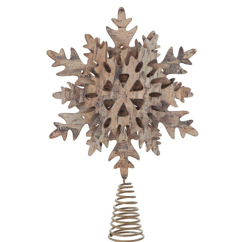 rustic snowflake Christmas tree decorations