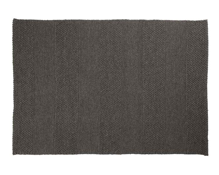 black knotted handmade area rug