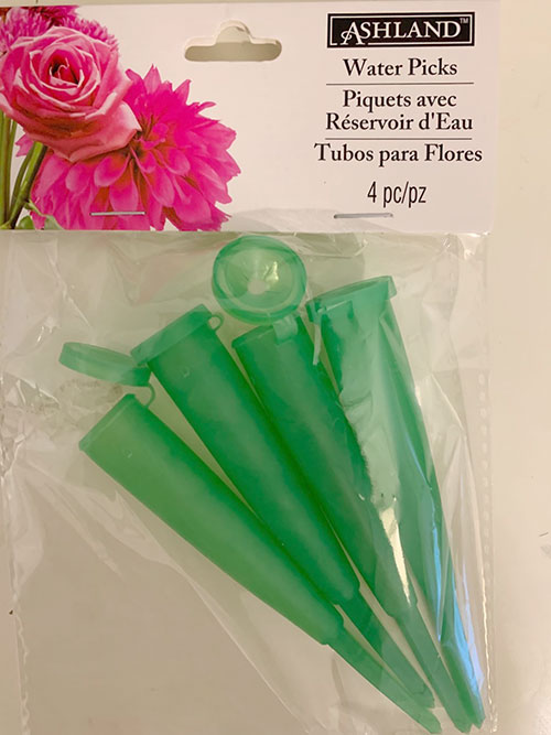 water picks for floral arrangement