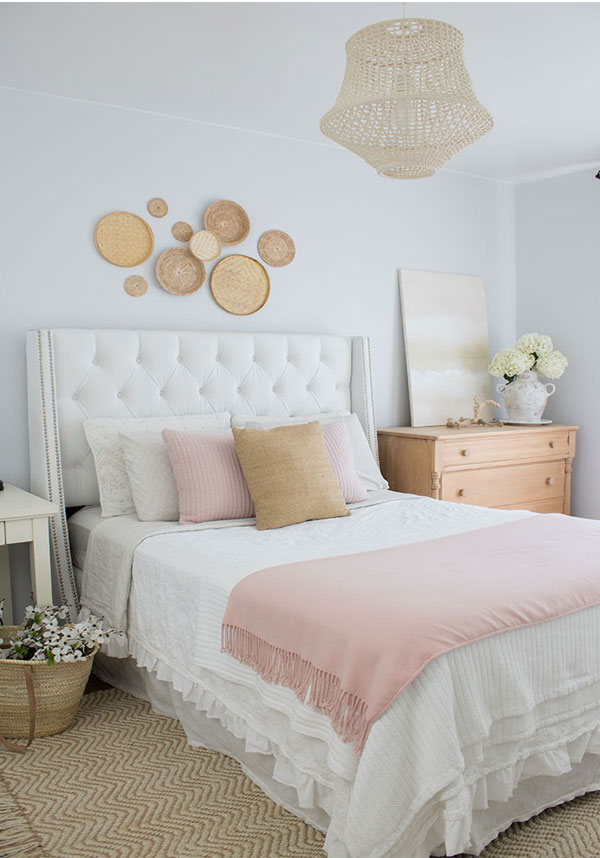 light and airy bedroom makeover