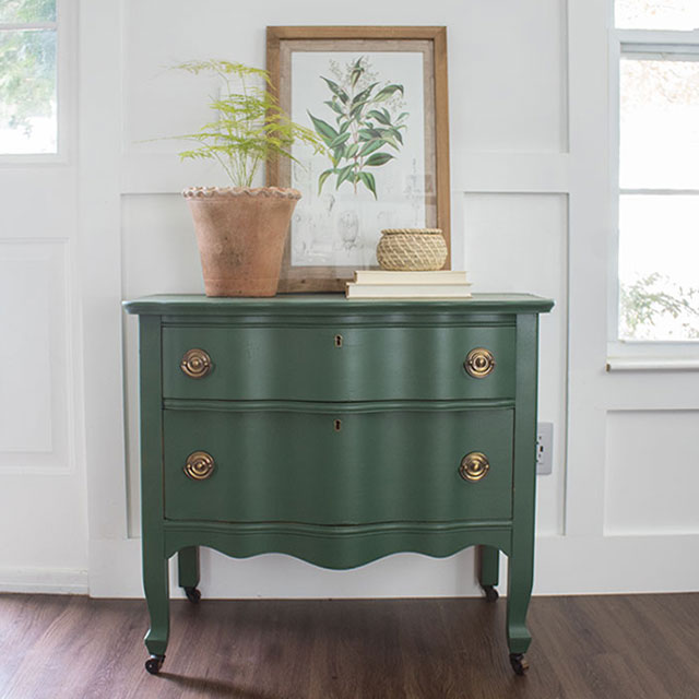 vintage dresser gets a new look with paint and hardware
