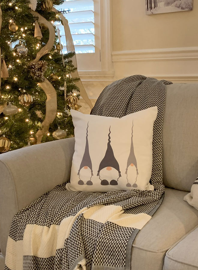 Norwegian Christmas gnome pillow