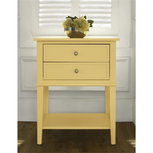 colorful accent table adds instant cheer to your living spaces