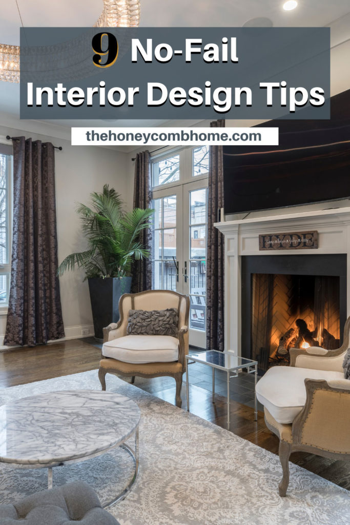 Not born with interior design talent?  No problem!  These 9 interior design tips will have you decorating like the pros in no time!