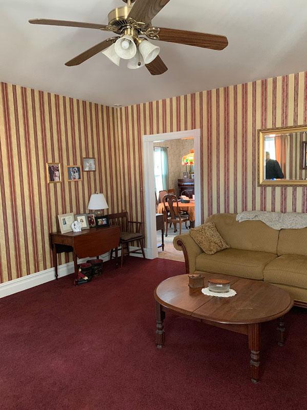 1870s living room restored