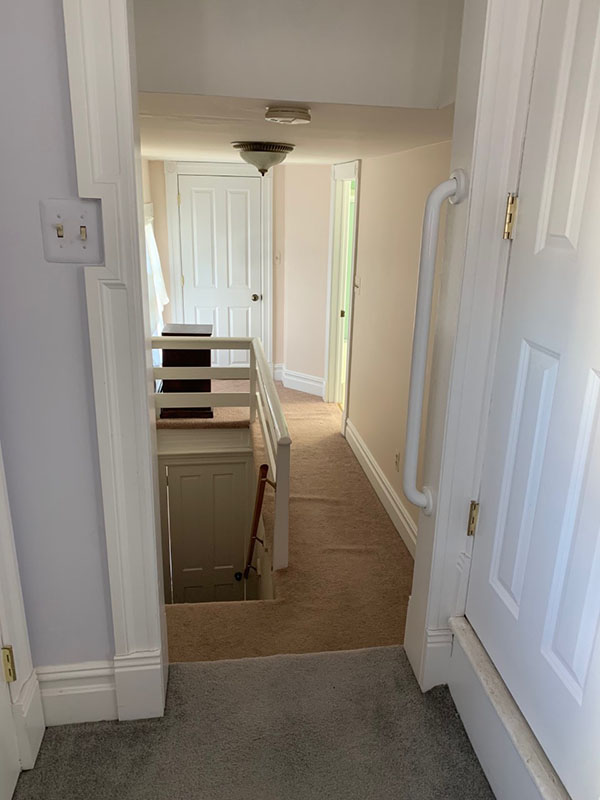 back staircase in older home