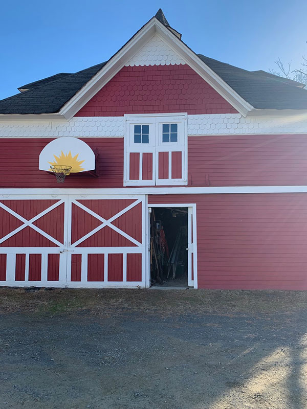 large two story barn