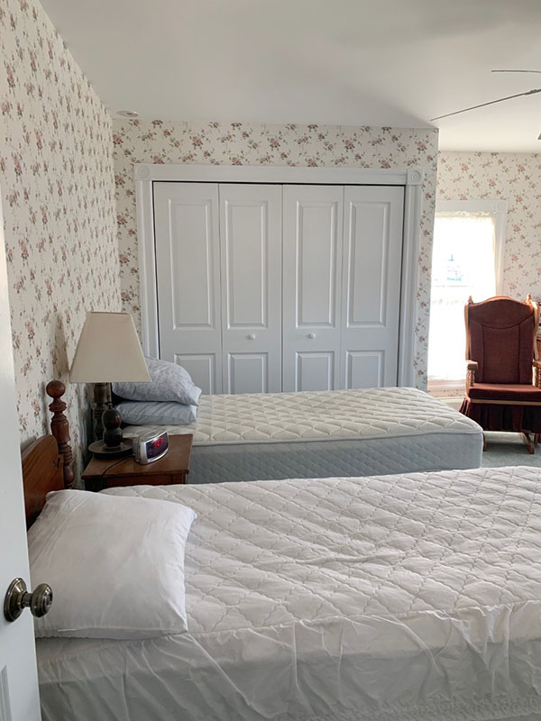 double closets in bedroom of historic home for sale in NJ