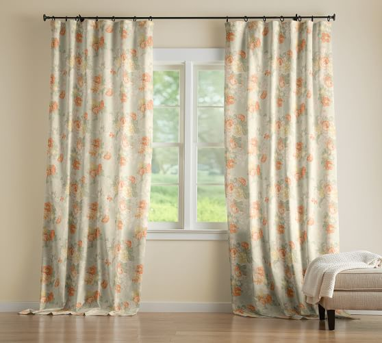 brighten up your living spaces in the dreary winter months with pretty floral curtains