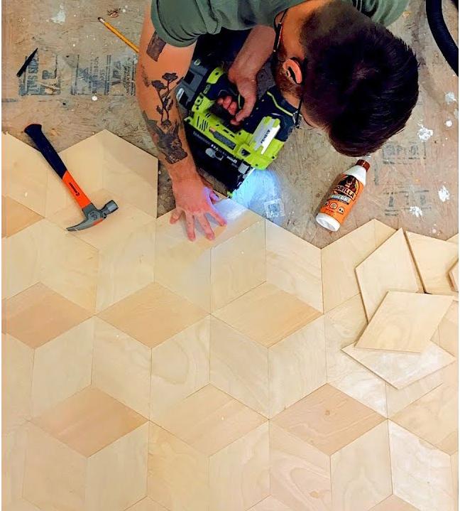 DIY plywood floors, budget friendly ideas