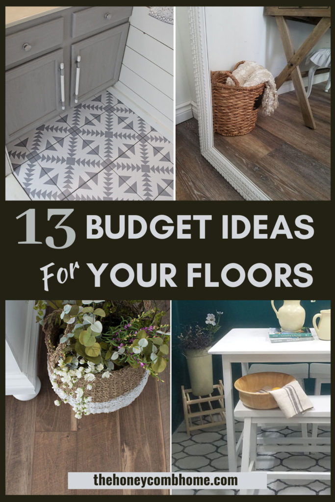 New flooring can be a huge investment, but these budget flooring ideas can help you transform your home without breaking the bank!