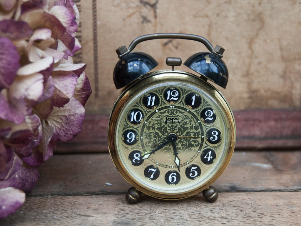 one of a kind miniature antique alarm clock from small village in France!