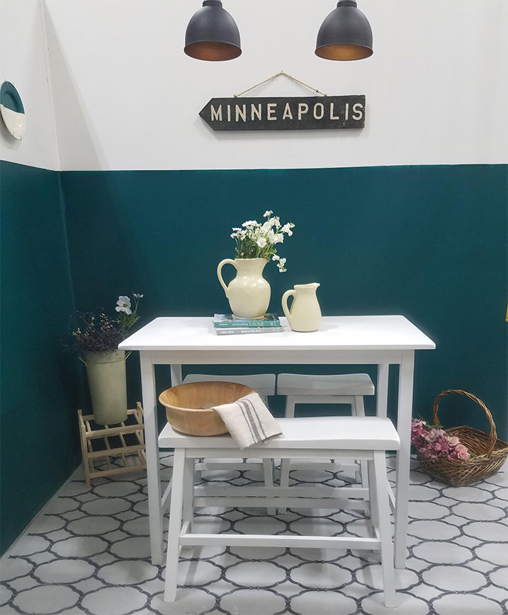 stenciled floors with paint