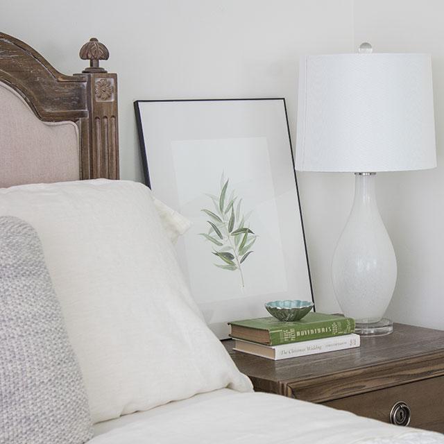 bedroom nightstands vignette styling