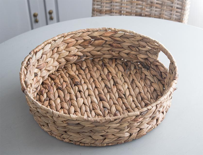 basket weave serving tray