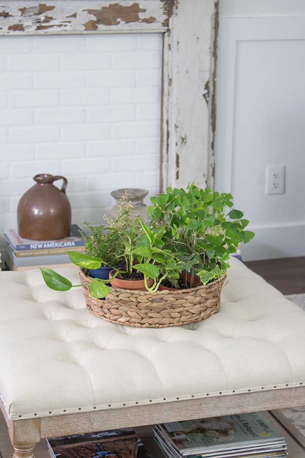 Spring decorating ideas - plant basket