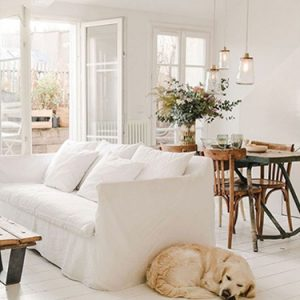 white home interiors