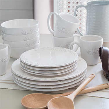 Pretty White Dishes For Spring