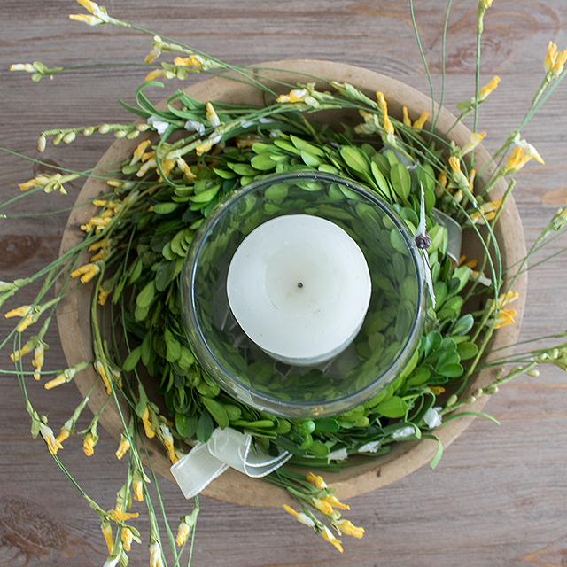 DIY wildflower centerpiece
