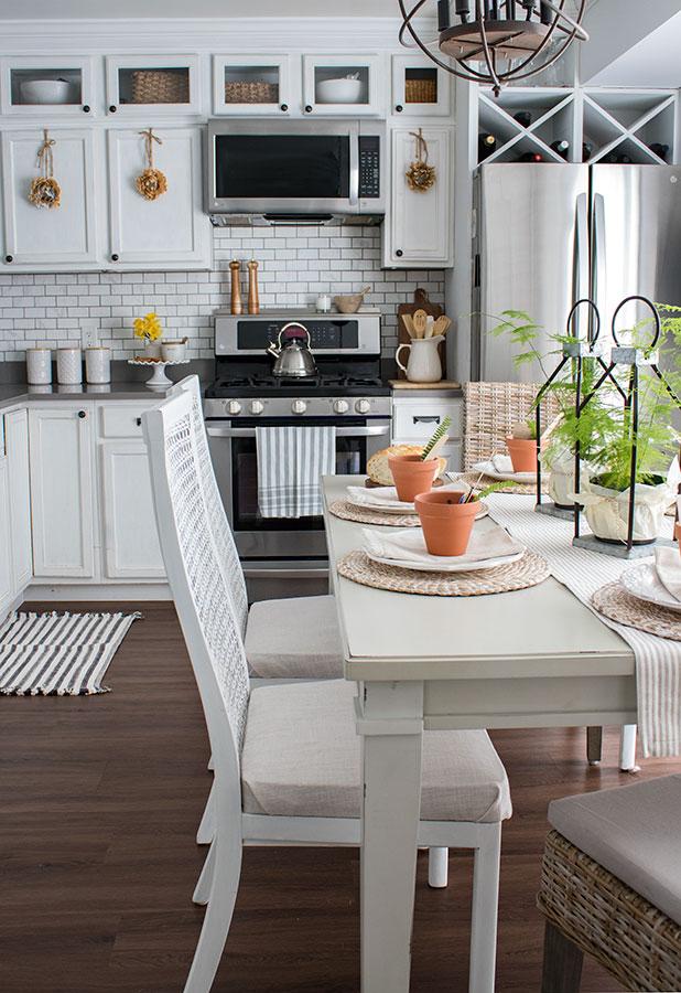 mostly white kitchen