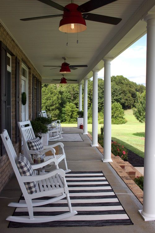 porch with a country view