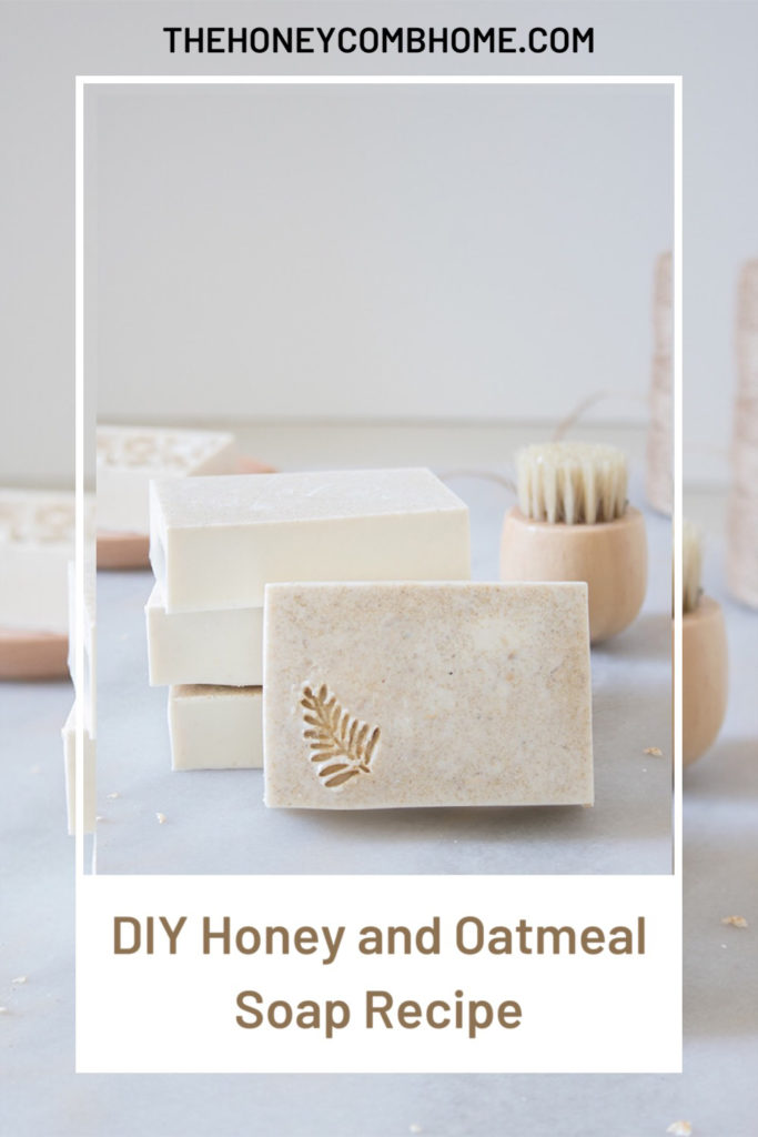 How to make this easy, DIY oatmeal soap recipe at home using all natural ingredients.